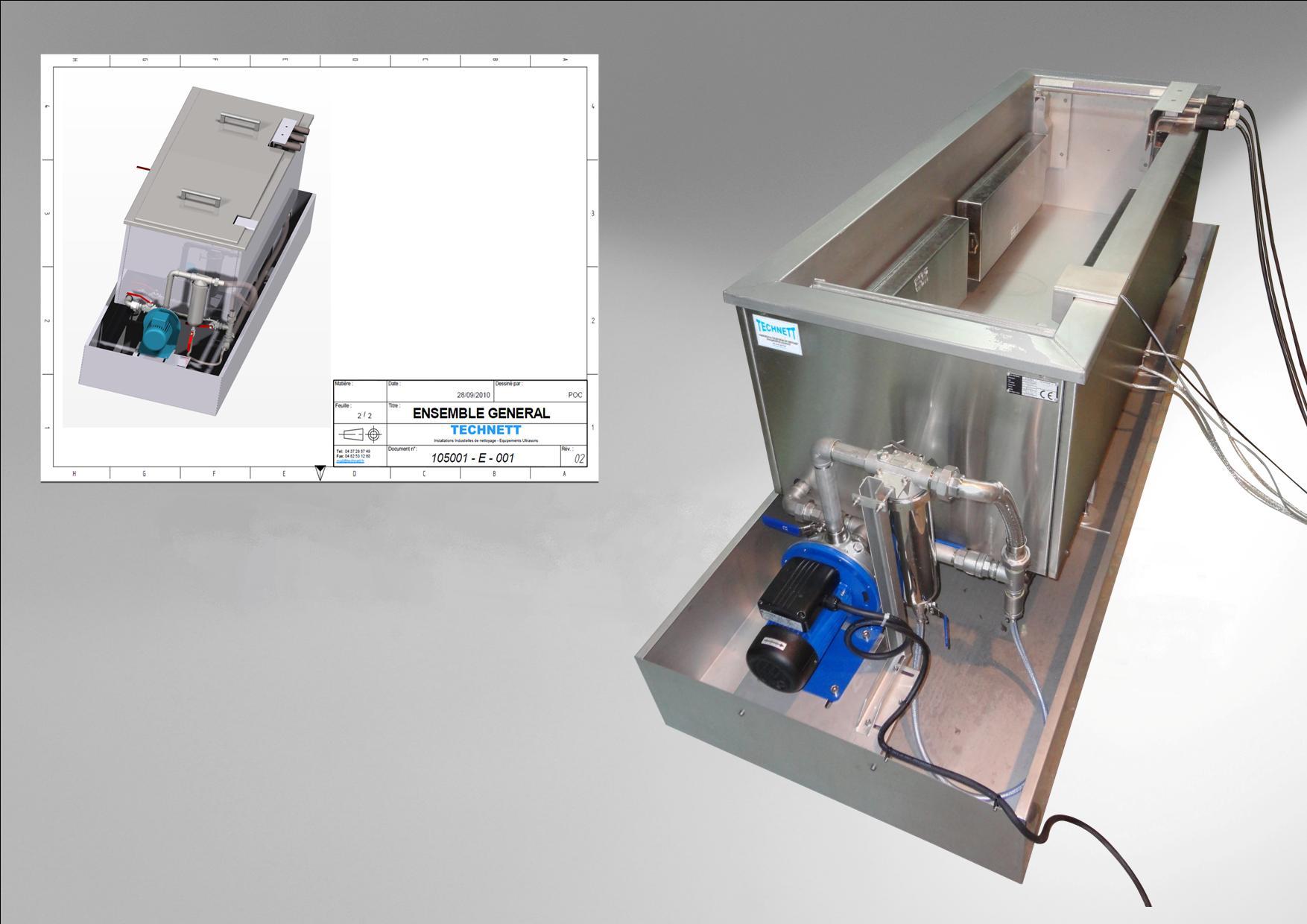 Cuve de nettoyage Ultrasons sur mesures