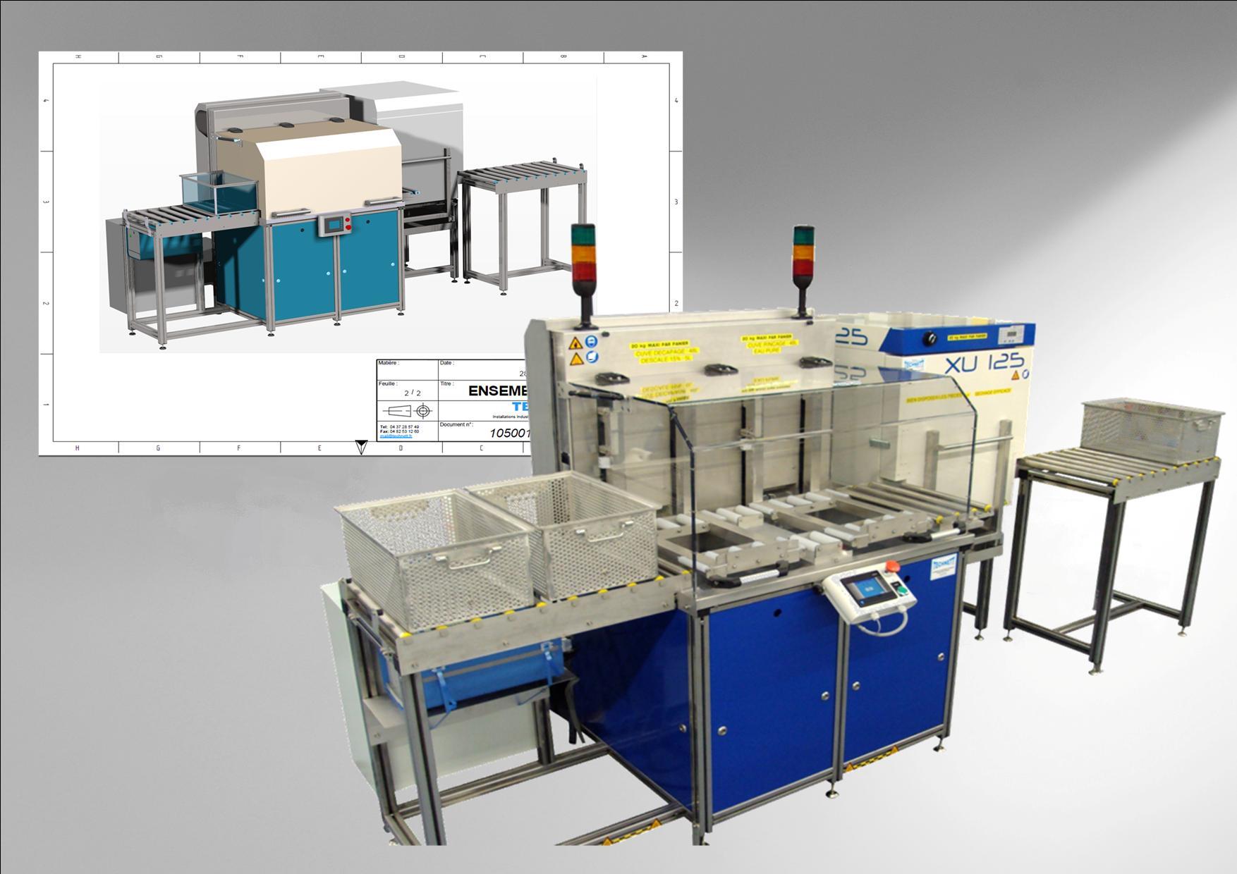 Installation Automatisée de décapage par Ultrasons