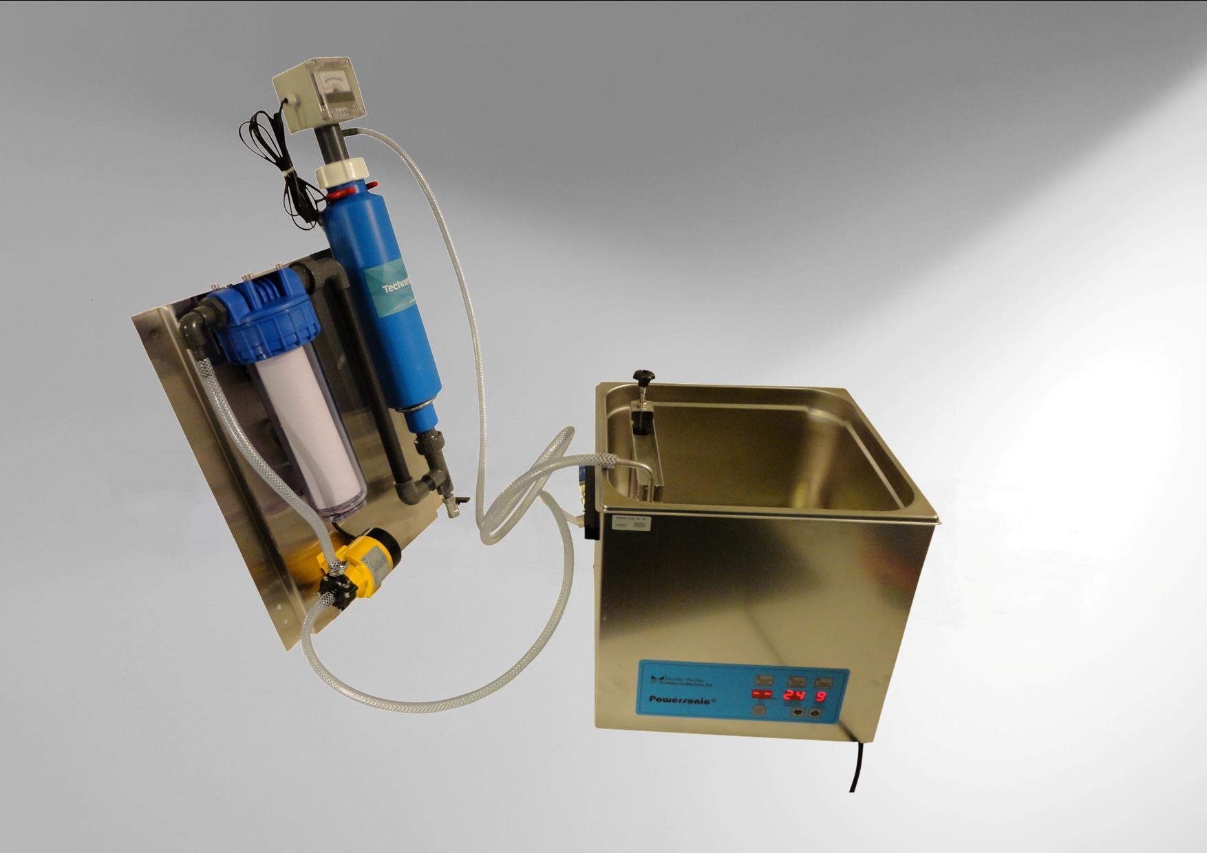 Filtration-Déminéralisation sur cuve le laboratoire