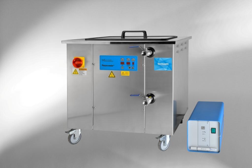 Cuve industrielle de nettoyage par ultrasons powersonic.